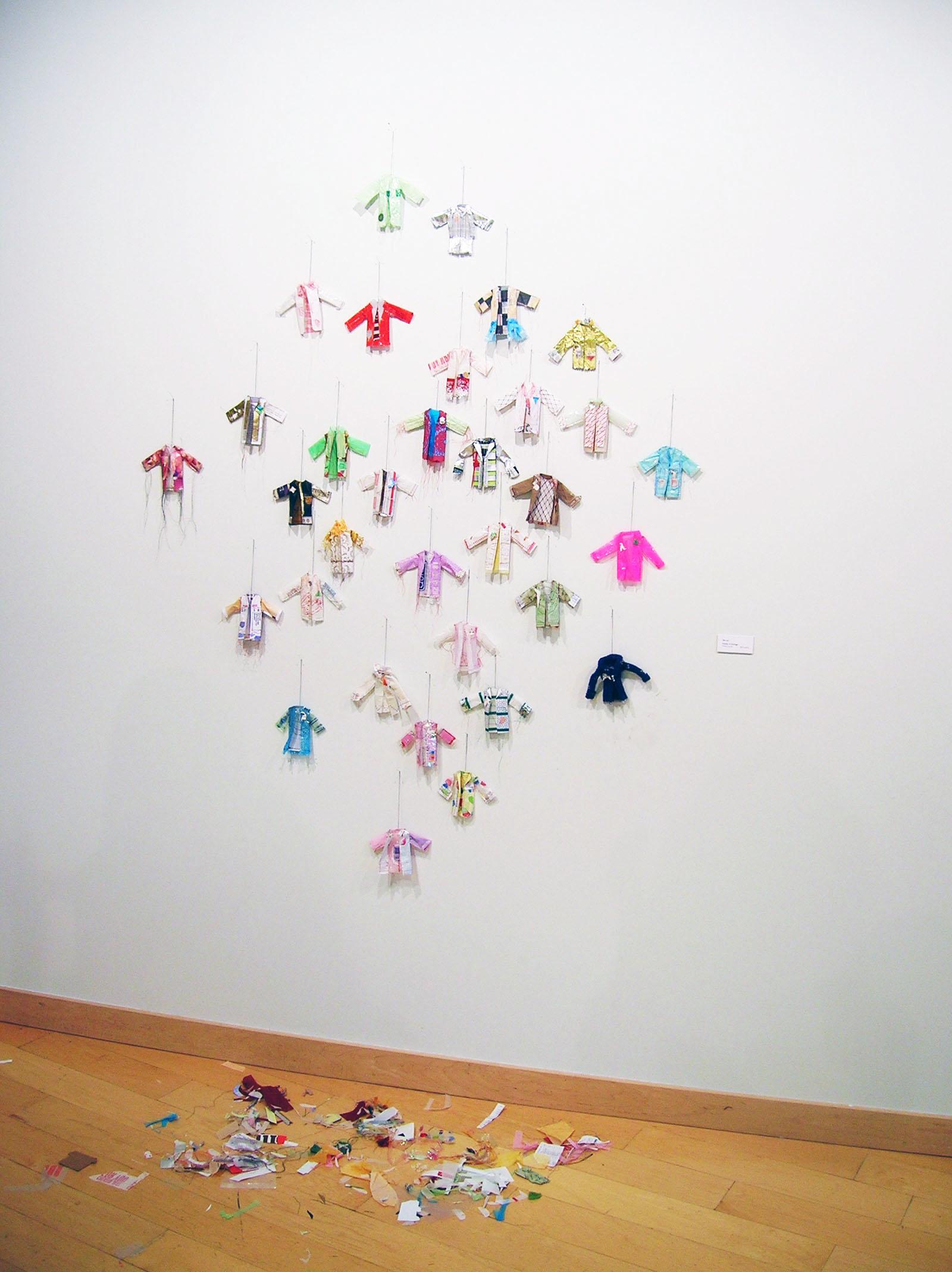 Re-Collection   2011   paper, plastic, cut, sewn, scraps
