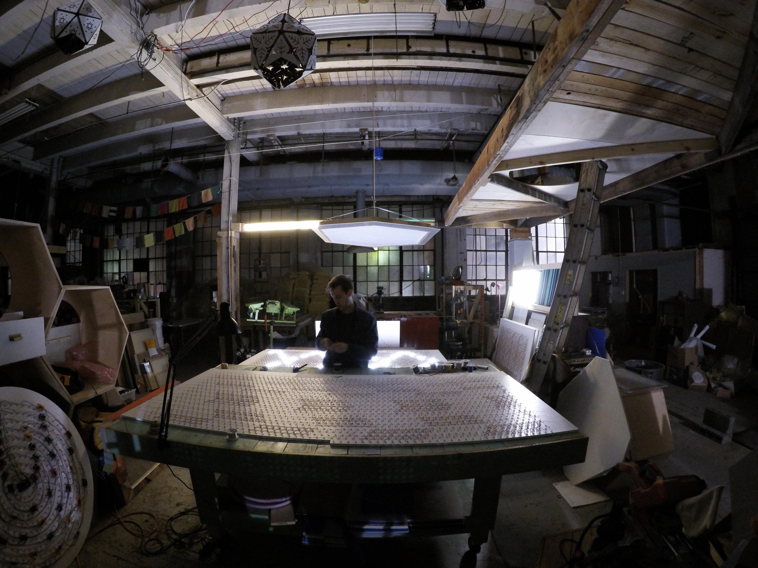 Patrick Ethen in his Detroit Studio