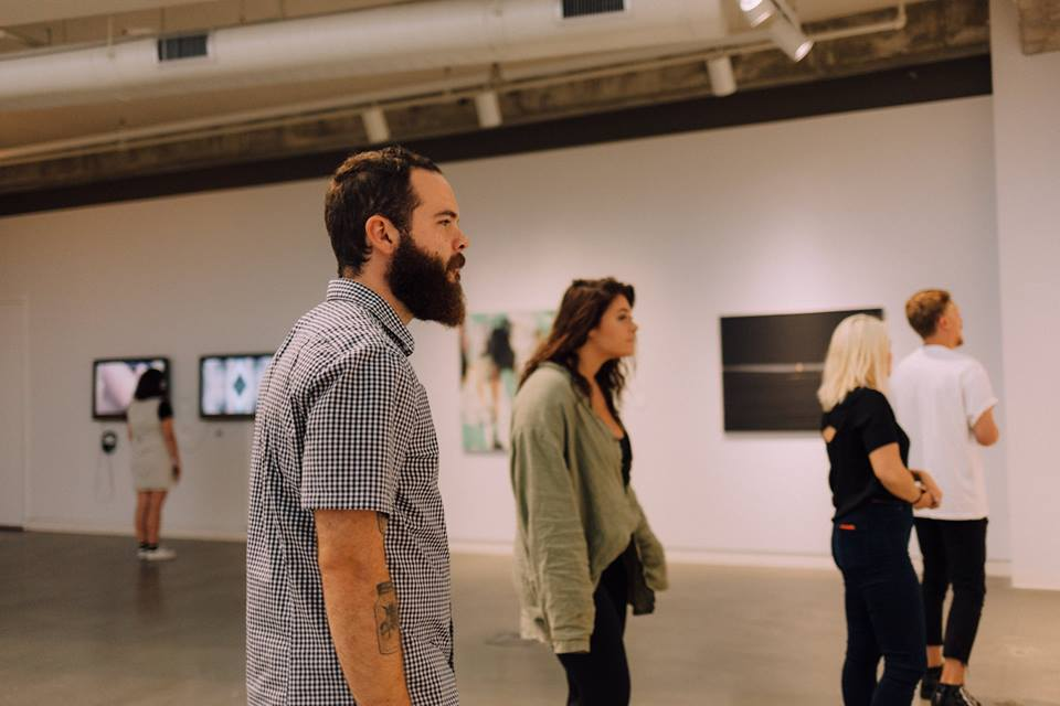 Guests exploring the galleries