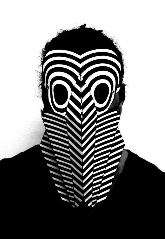 Example of CV Dazzle inspired mask - Source: Pinterest