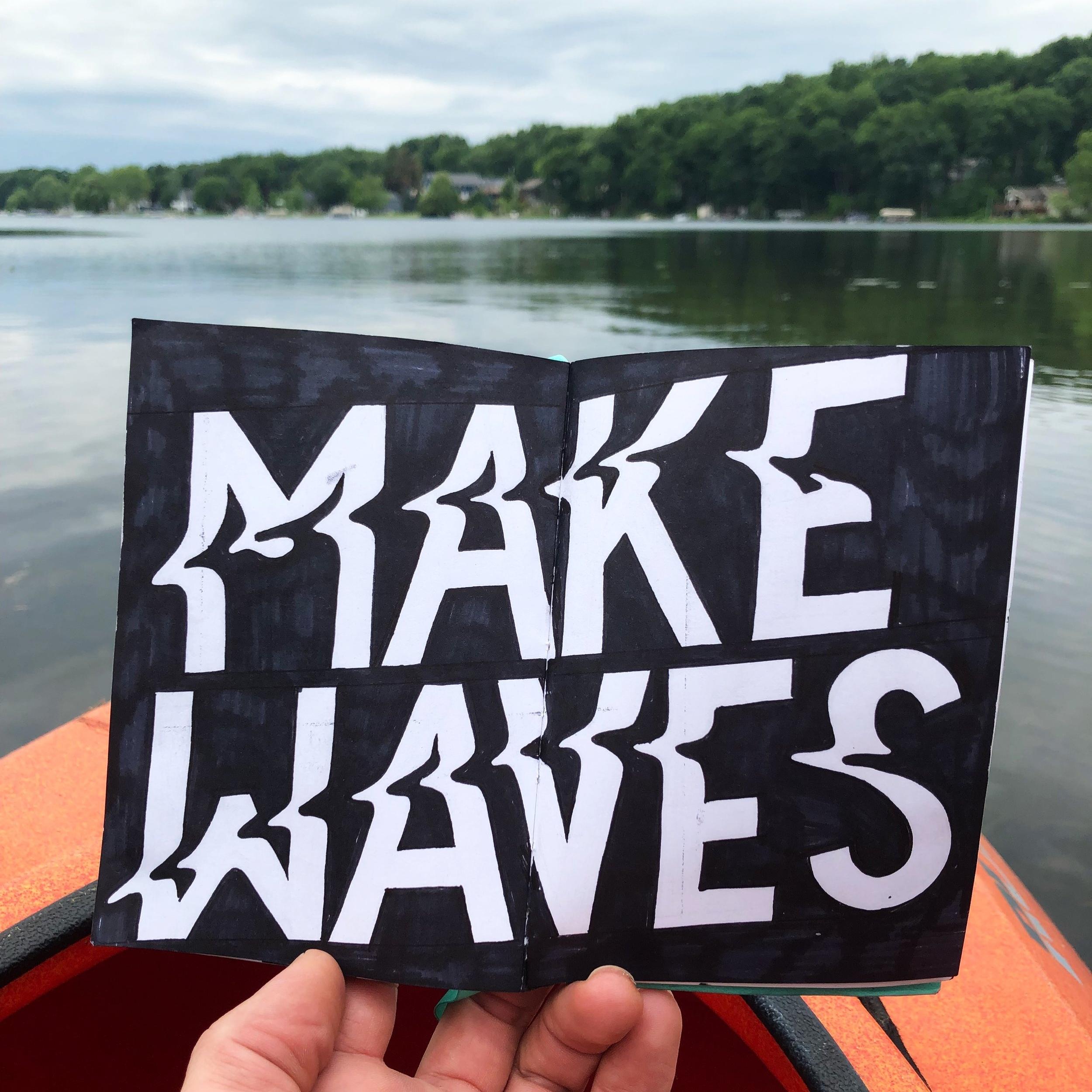 Make waves illustration