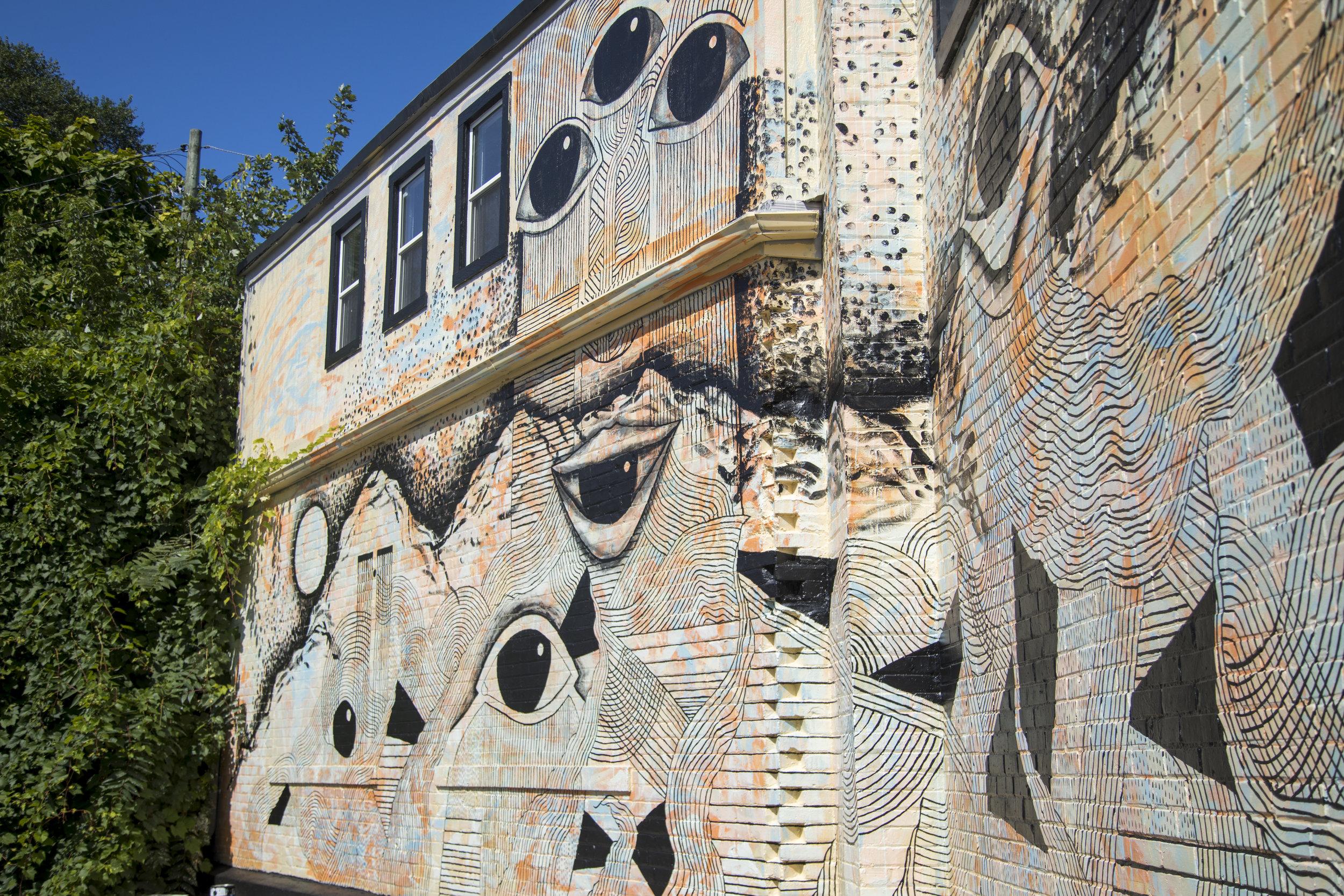Colby Roanhorse mural in Creston