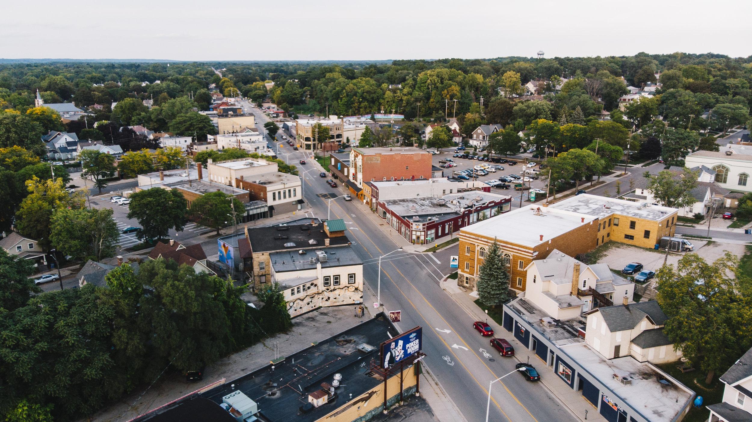 Creston neighborhood overhead