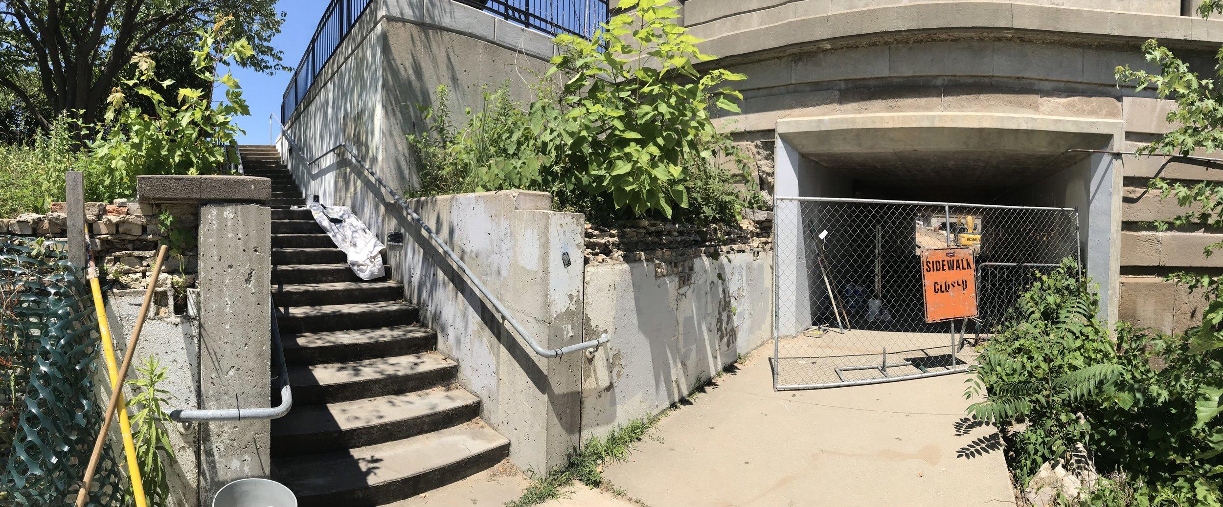 Pearl St. Bridge tunnel before intervention