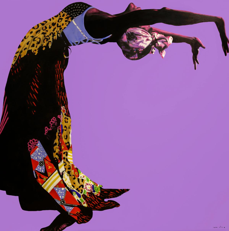 Dawn Okoro,  Roshi,  mixed media, 2018