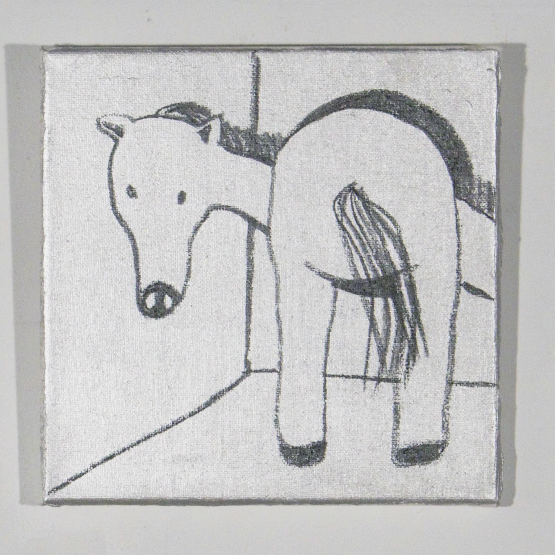 Silver Donkey Horse