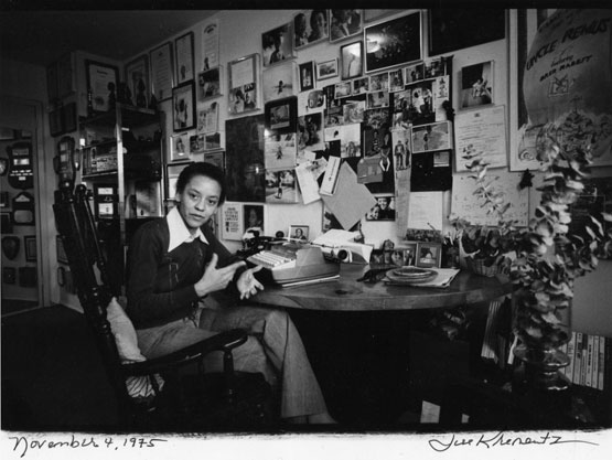Nikki Giovanni photographed at her desk 1975 by Jill Krementz.jpg