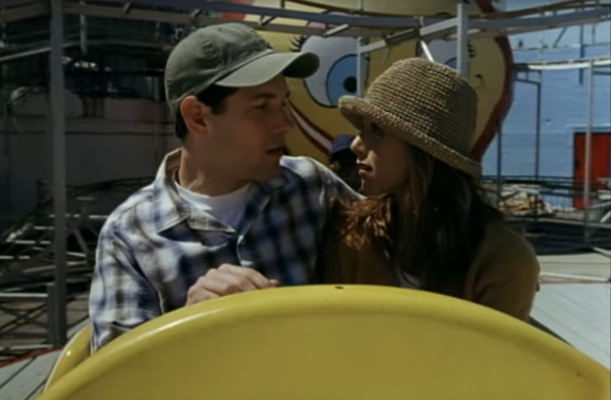 Nina and George on some ill-advised amusement park ride no ob-gyn would approve.