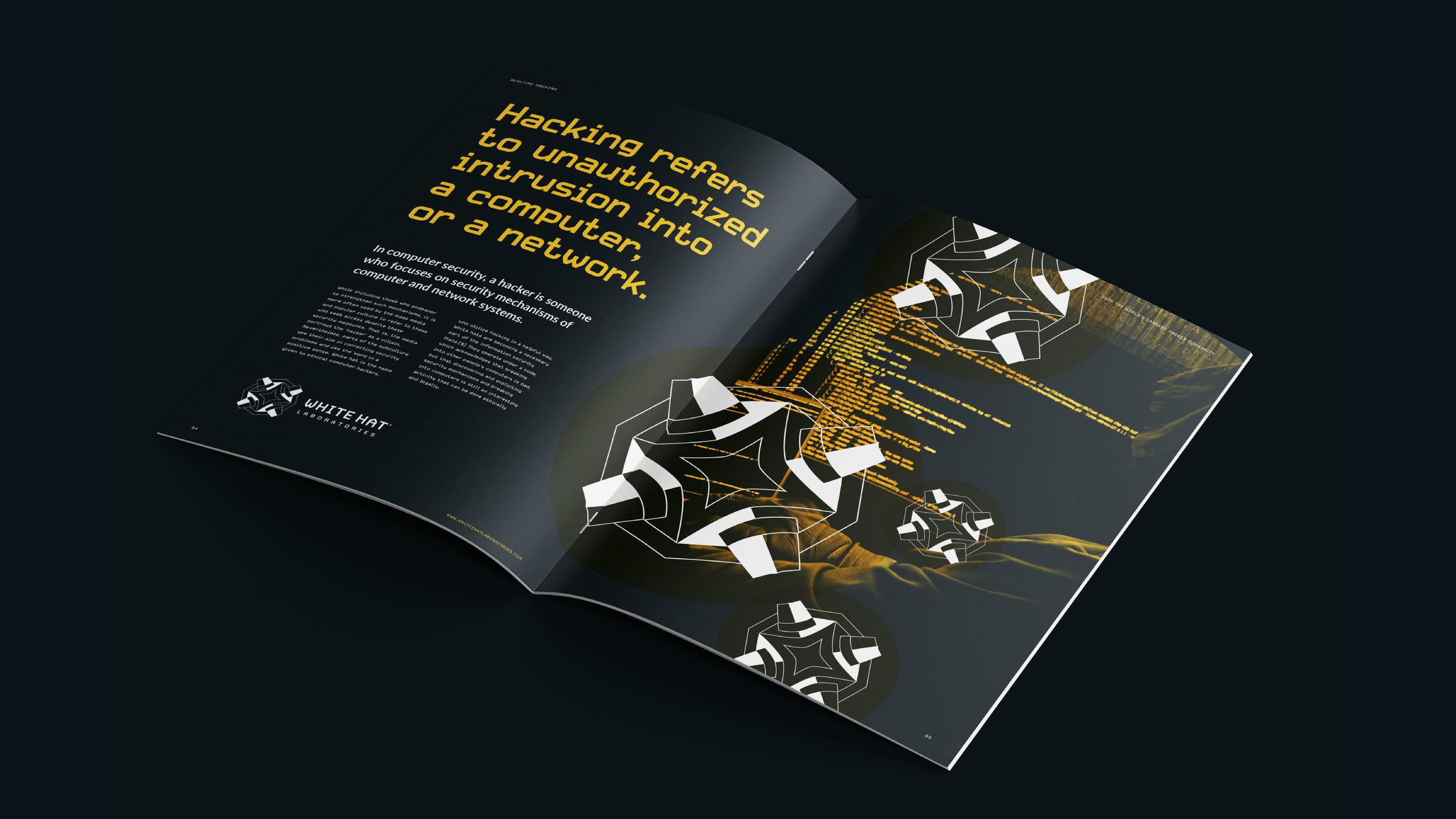 White Hat Laboratories brochure spread