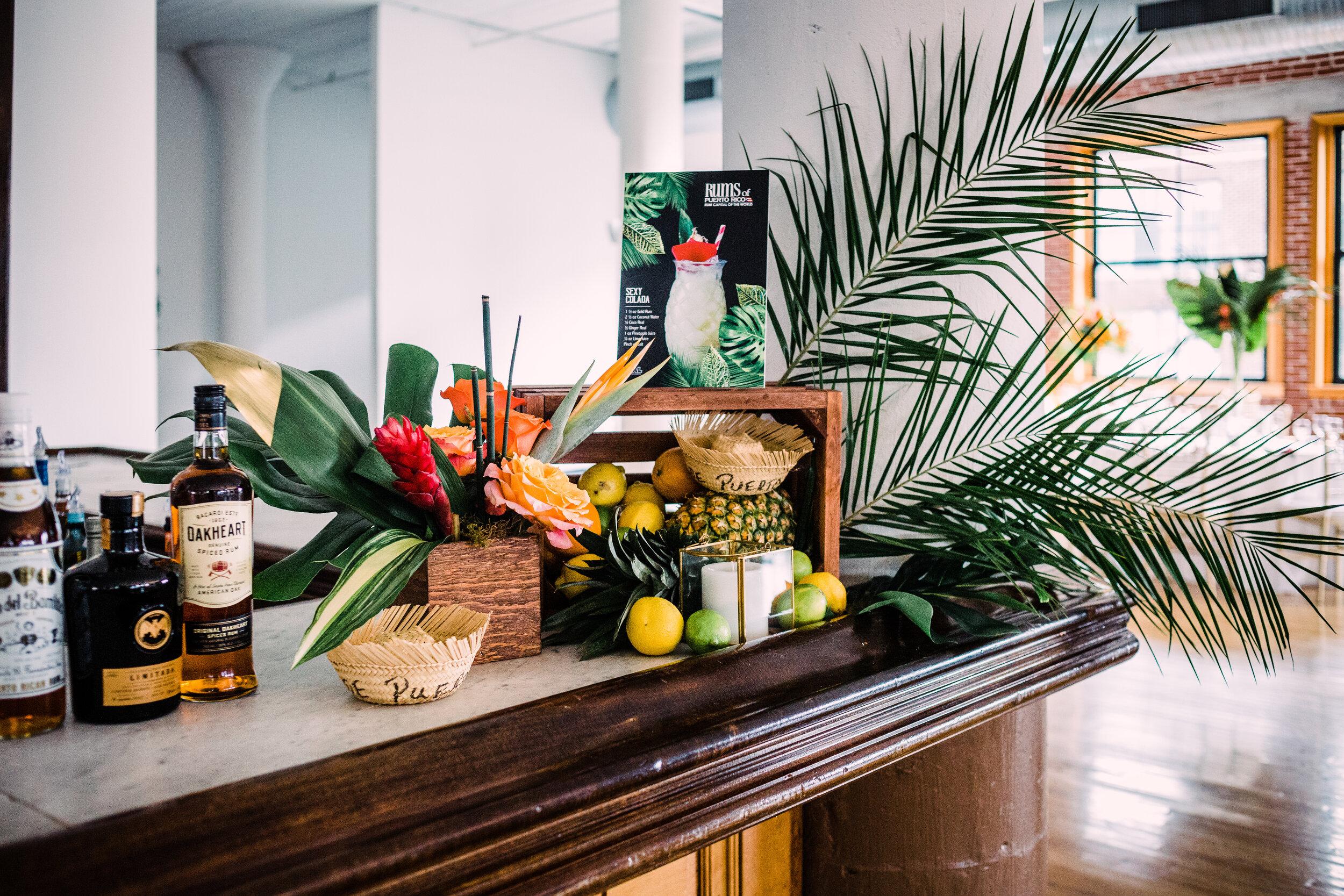 Tropical fruit bar