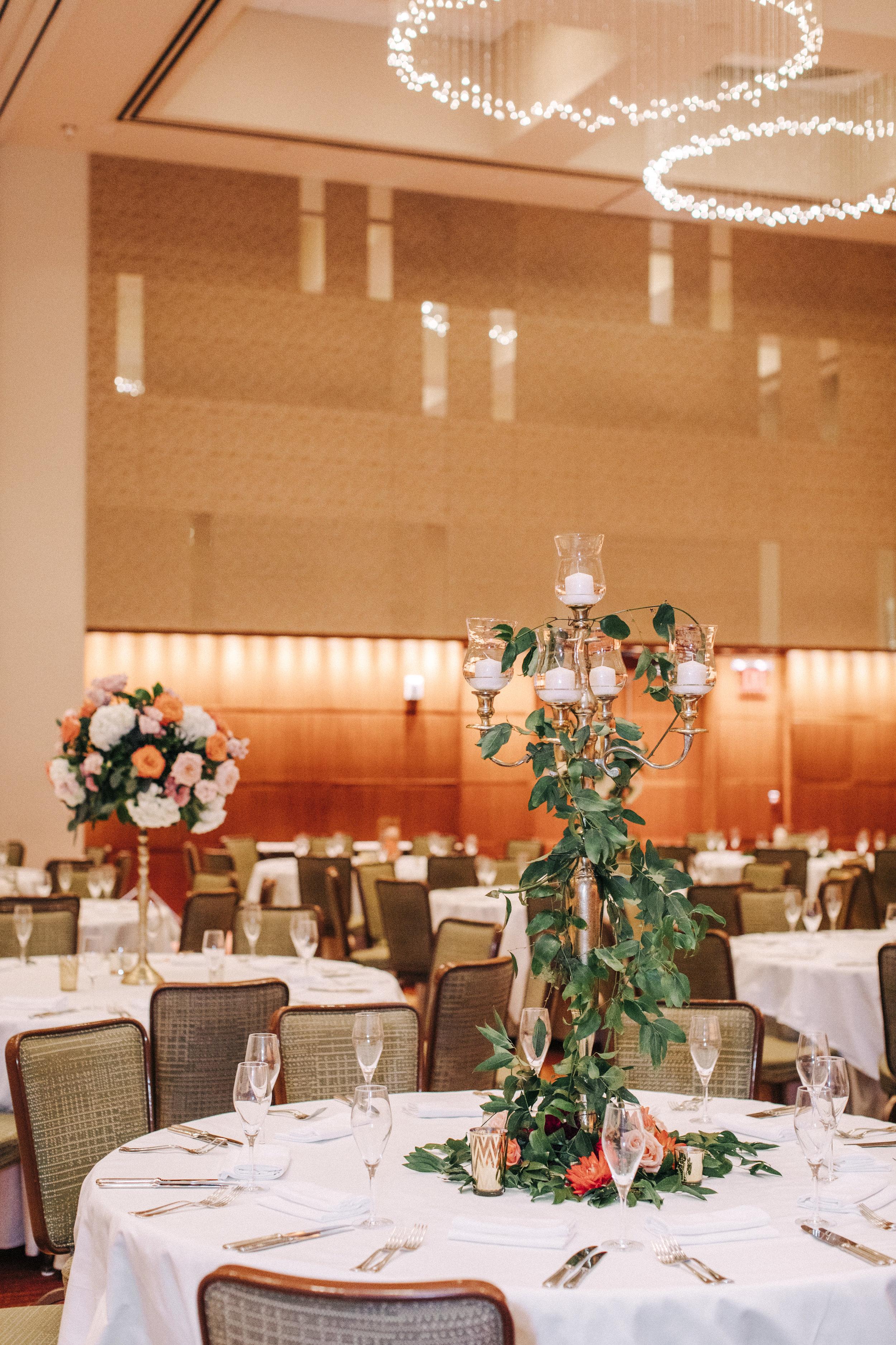 wedding candelabra centerpiece