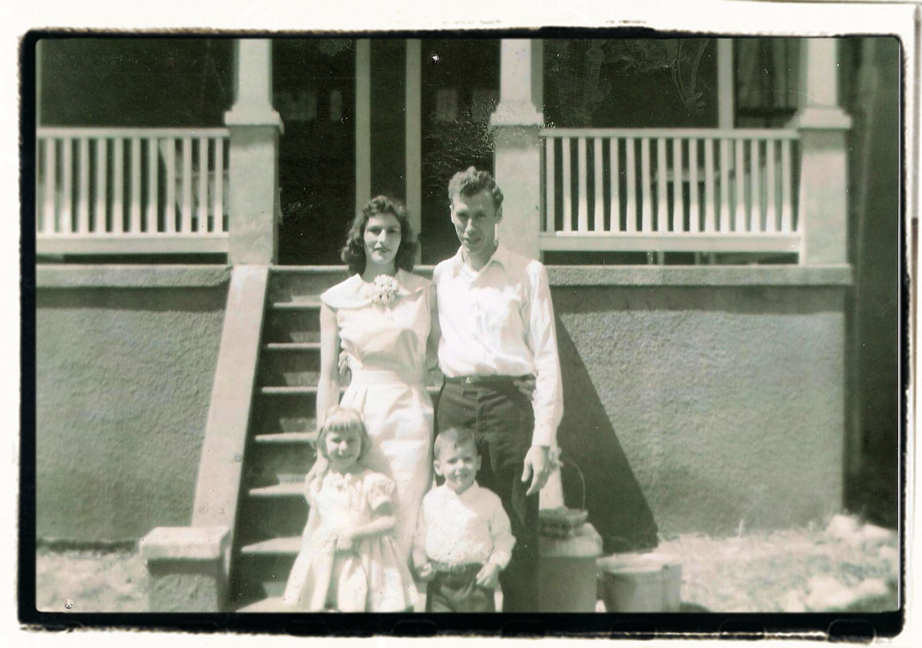 THIRD AND FOURTH GENERATION:  EVA, CARL, SHERI (EVANS) AND EDDIE STRENFEL