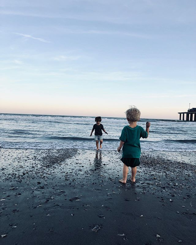 Who sucks at uploading pictures?! 🙋🏻♀️ oh how the boys enjoyed playing in the sand & shells here.