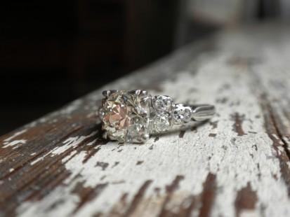deco diamond engagement