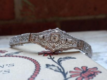 filigree and diamond bracelet