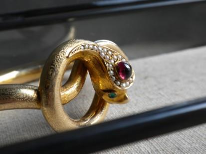 Victorian serpent bangle