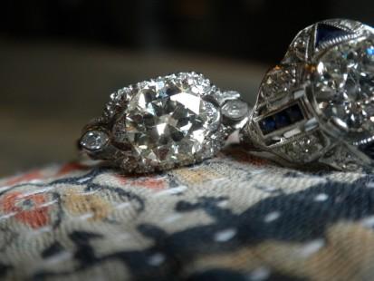 Gorgeous estate old european cut engagement ring