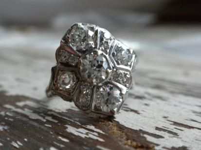 platinum cocktail ring