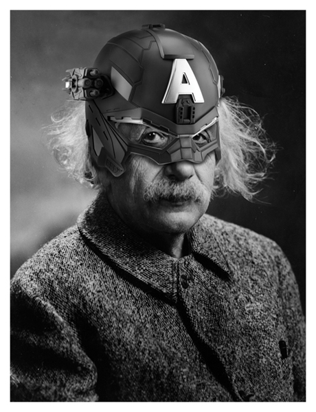 Doesn't take an Einstein to figure out being Captain America is the goal on Amazon.com, .ca, EU and up and coming platform .IN  *Currently available on all major .com retailers in North America - JPL