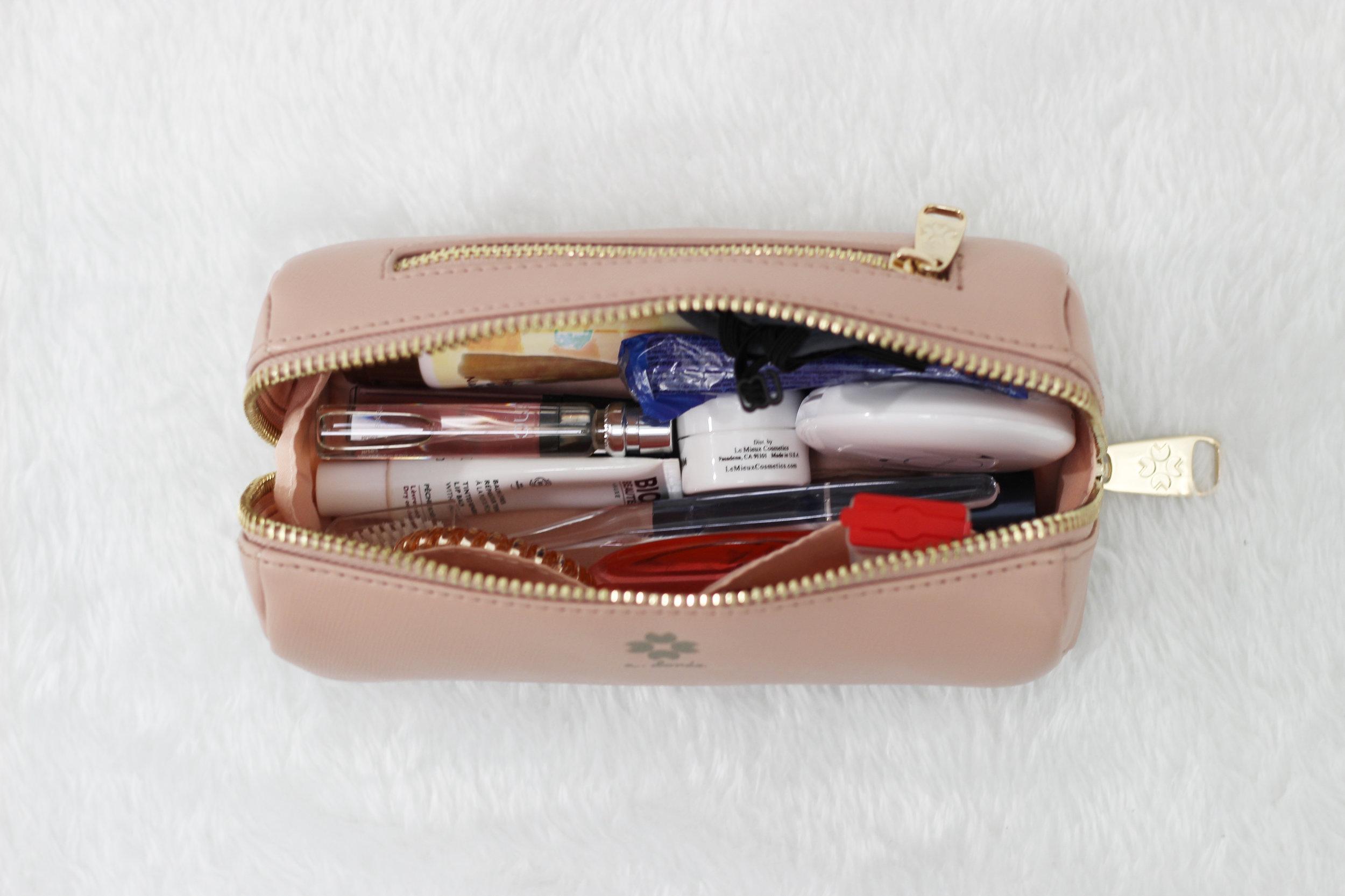 Fay Makeup Bag Organized