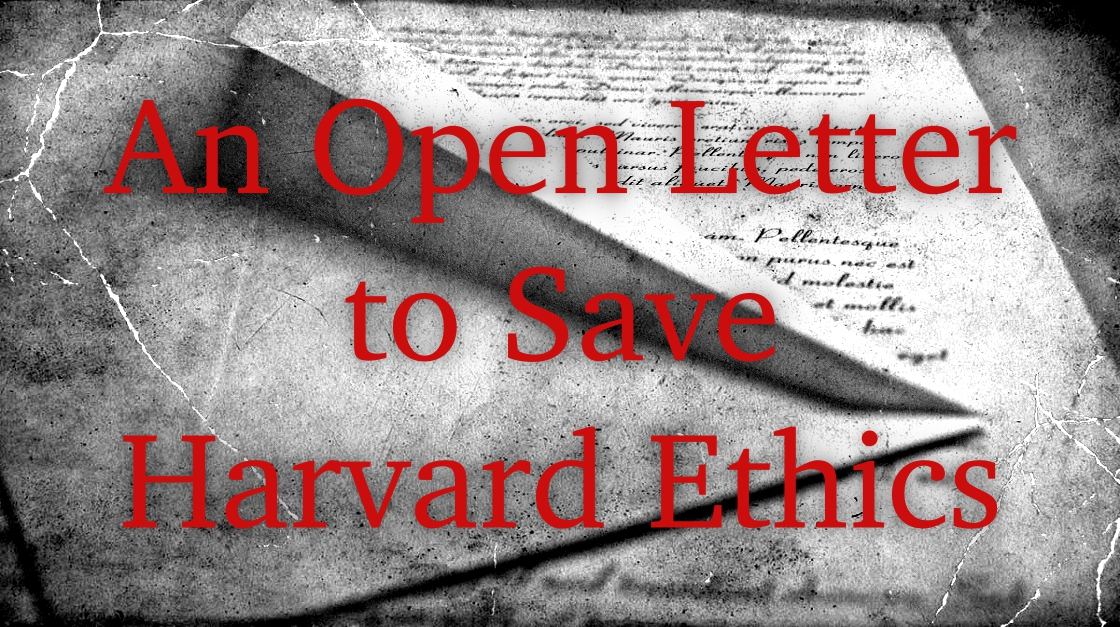 As Harvard embarks on the important decision on whom to appoint as the President of Harvard University, the guardian of our values, we the students of Harvard would like to place a few issues for your consideration. We believe that the Chair of the President of Harvard must be occupied by a person who does not have the stain of conflict of interest or one who can potentially compromise his or her ethics for commercial gain.