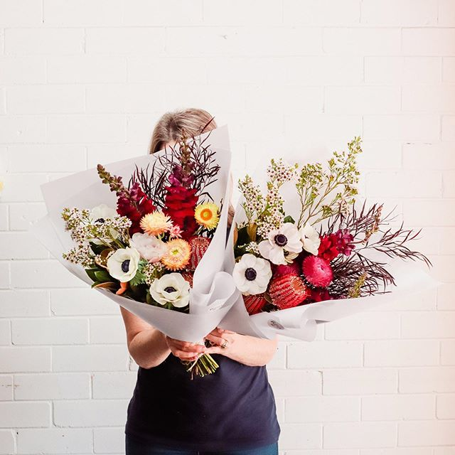 Posy Alert for 25th September | Wednesday's posy features banksia, anemone, paper daisy, snap dragon, wax flower, after dark and little gem.⠀ ⠀ You can order a single posy for $37, a double posy for $70 or a triple posy for $105, including delivery, and we'll deliver to your door in the afternoon.⠀⠀ ⠀⠀ Just order online by 11:30am, if not sold out prior.⠀ ⠀ TPP x