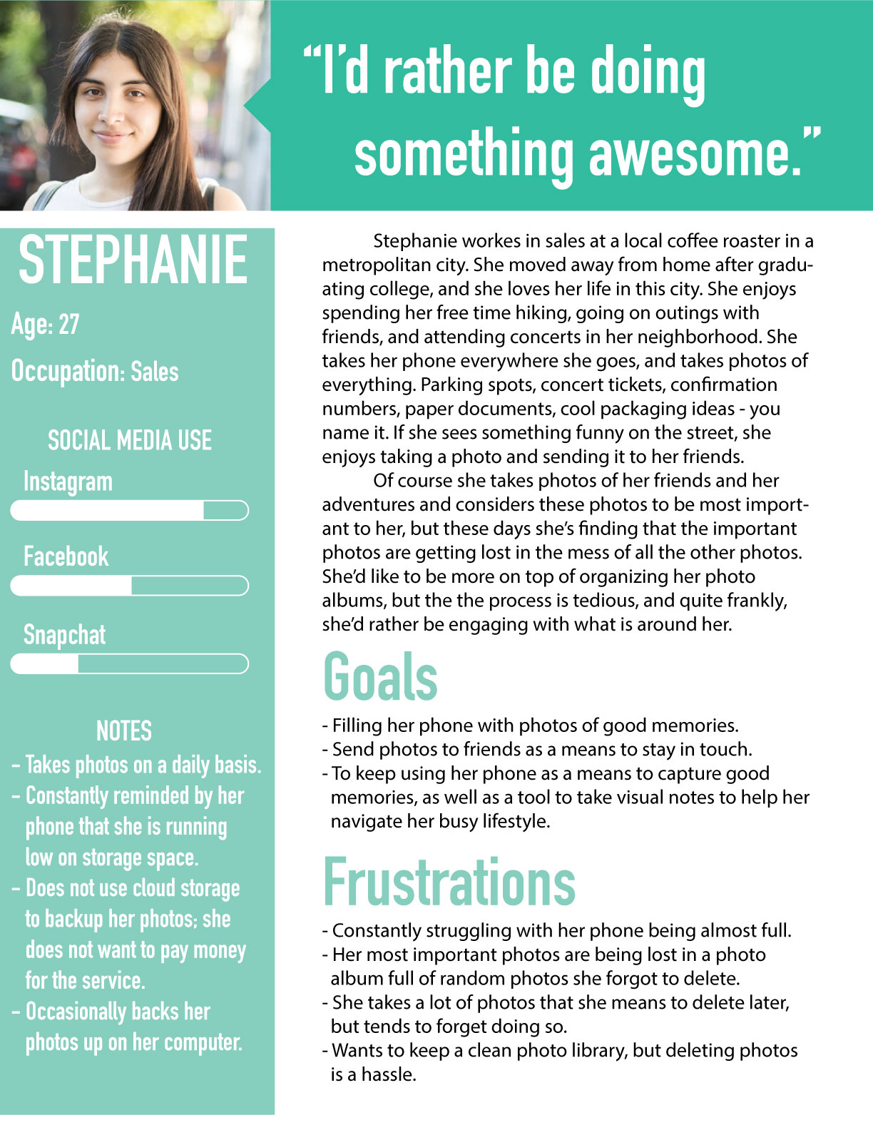 Persona: Stephanie