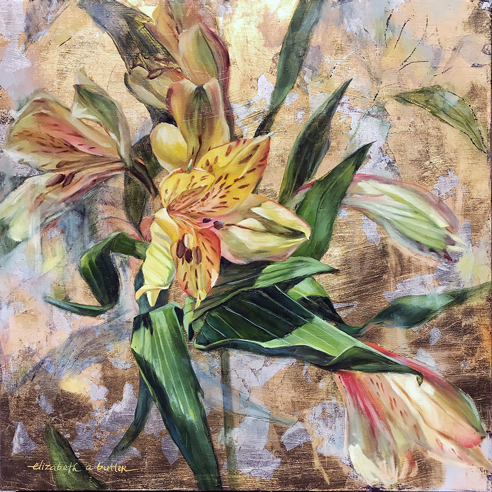 Transformation I ; Alstroemeria Study on Gold and Silver