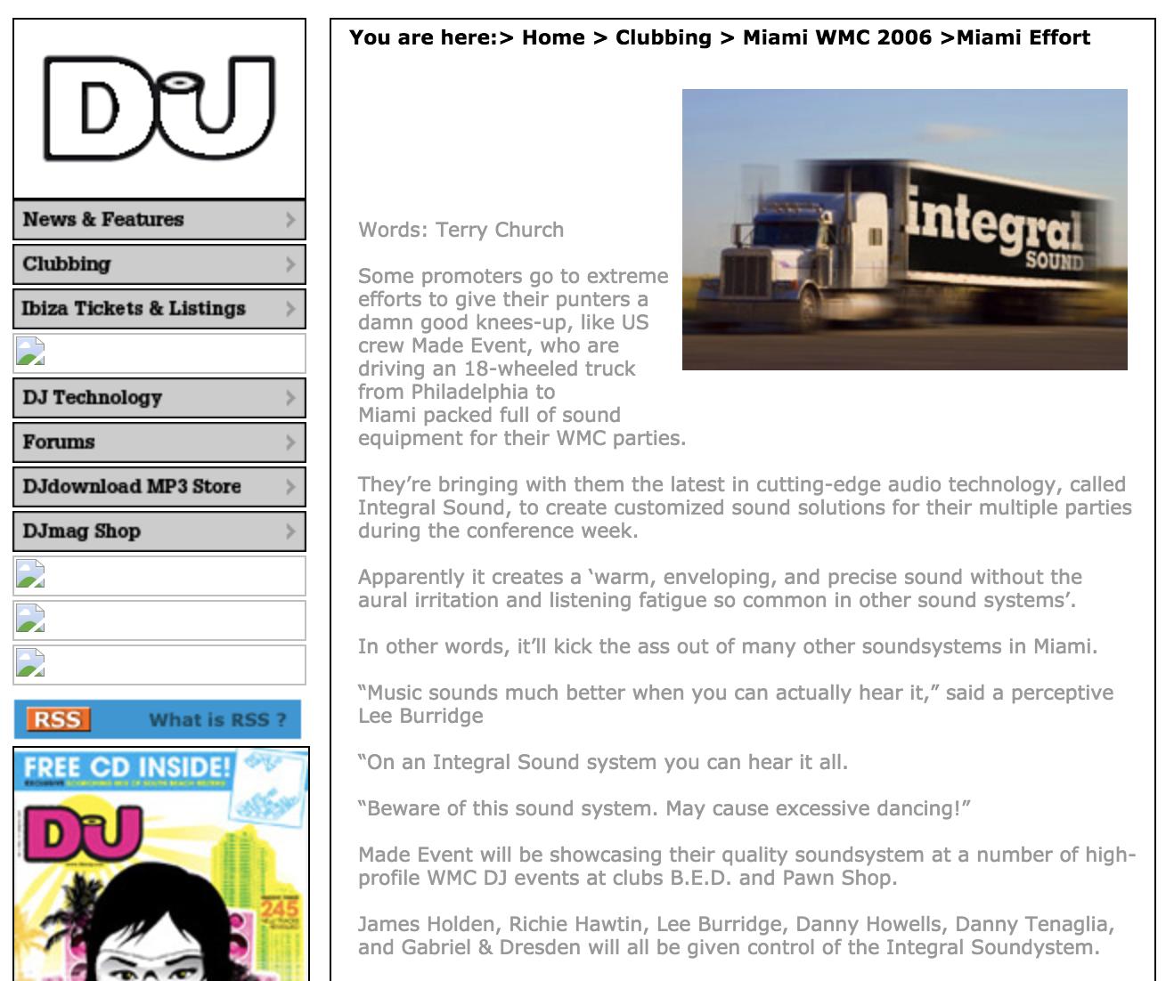 DJ Mag: WMC Miami: 2006