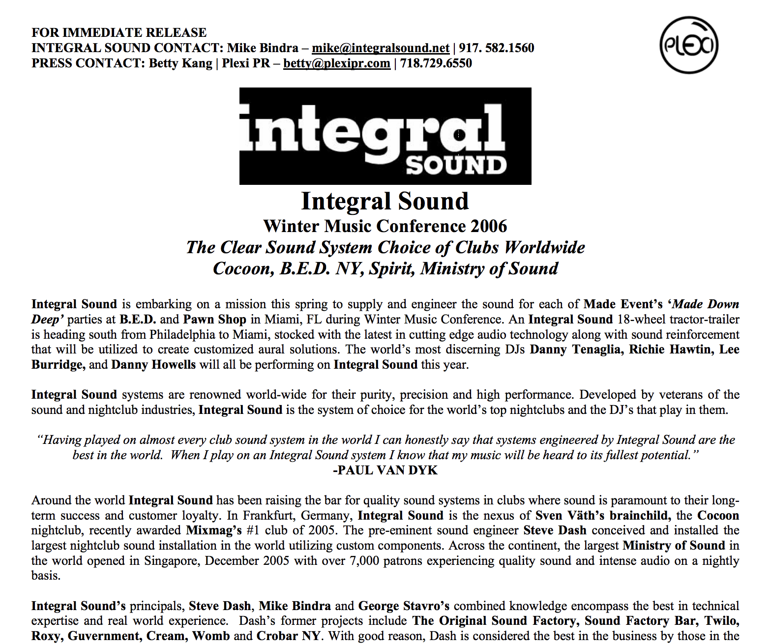 WMC 2006 Press Release