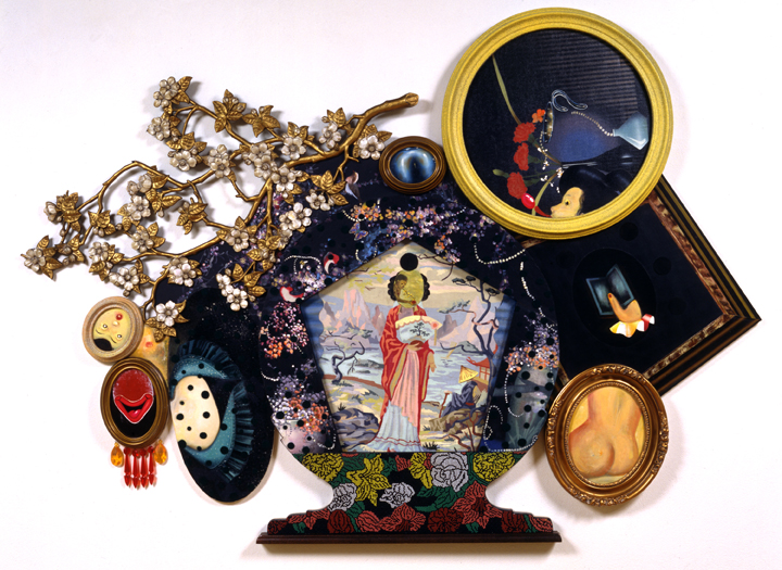 """Little Goody Two Shoes, 49"""" × 64"""", mixed media on canvas, 1996"""