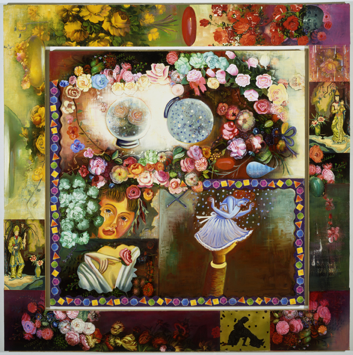 """Suddenly it's Winter, 68"""" × 68"""", mixed media on canvas, 1992"""