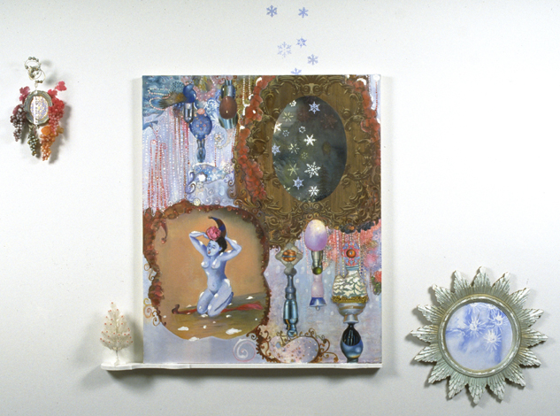 "The Last Sigh of Ecstasy, 60"" × 48"", mixed media on canvas, 1998"