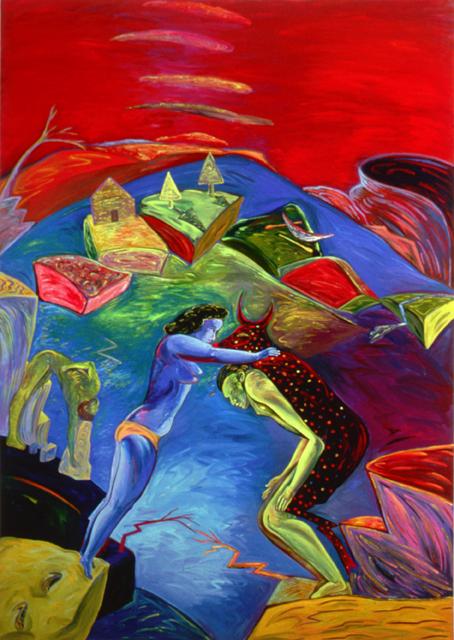 """Shaking Still II, 96"""" × 72"""", oil on canvas, 1985"""