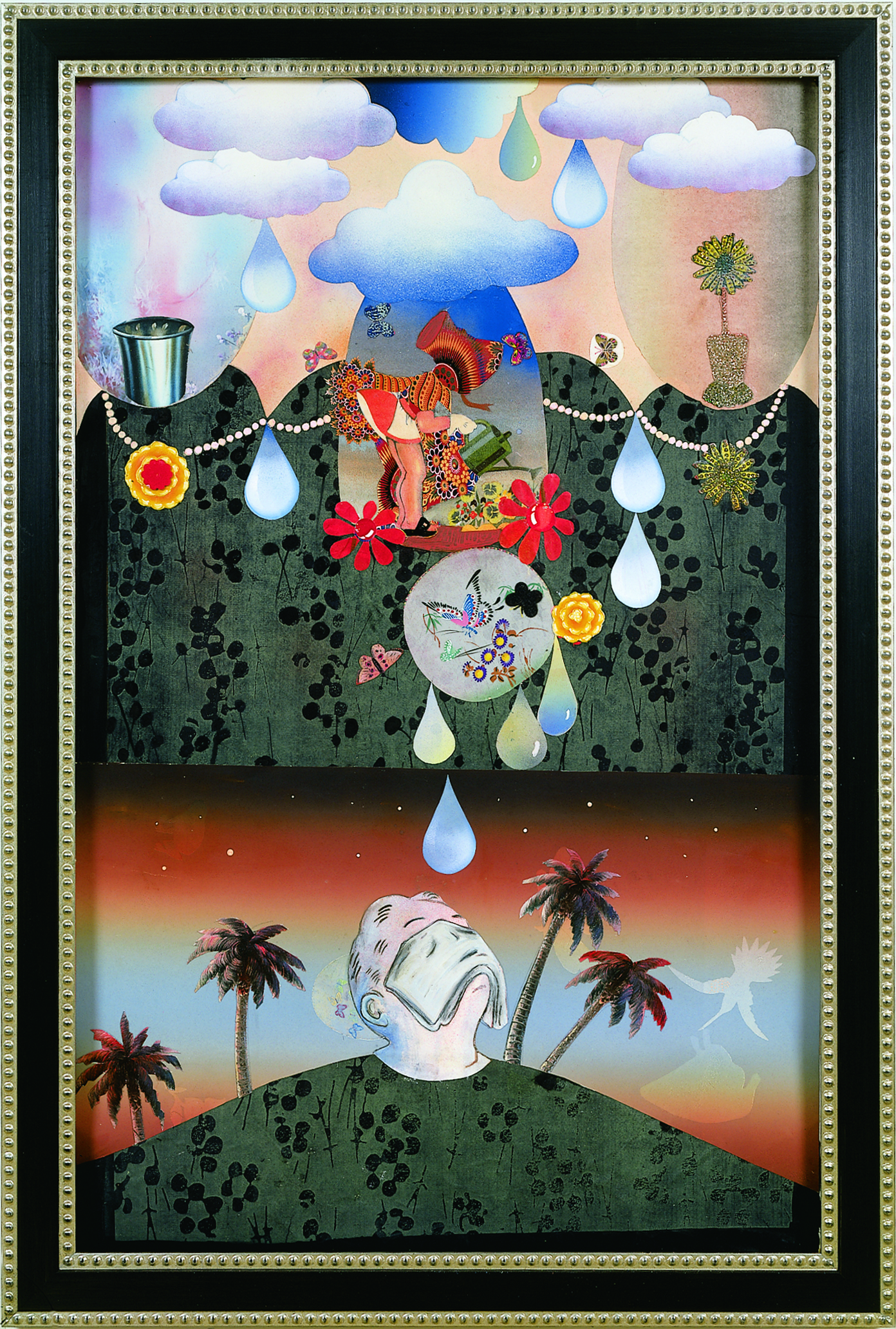 """A World of Woe, 60"""" × 38"""", mixed media on paper, 2001"""