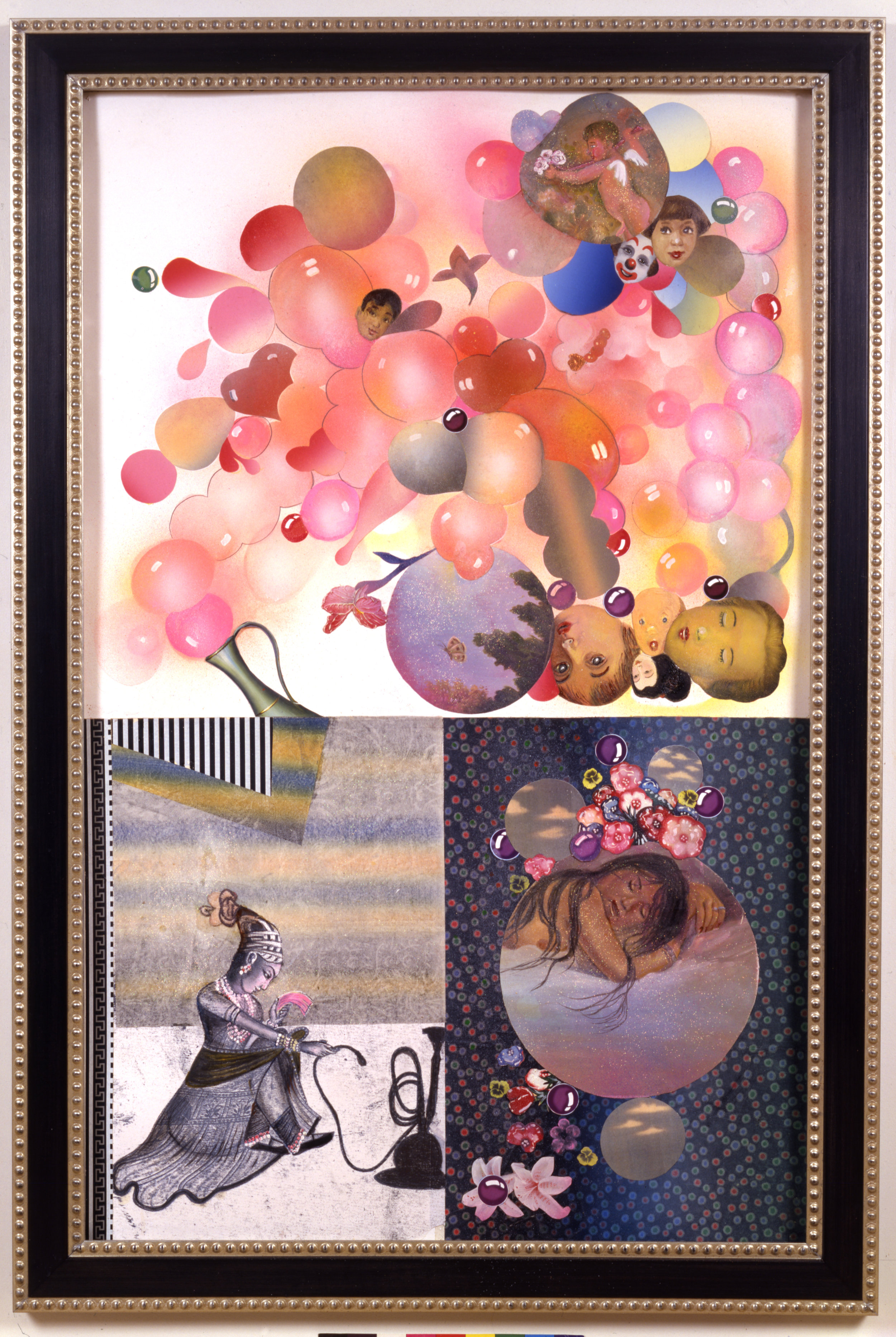 """Stealing Sleep, 60"""" × 38"""", mixed media on paper, 2001"""