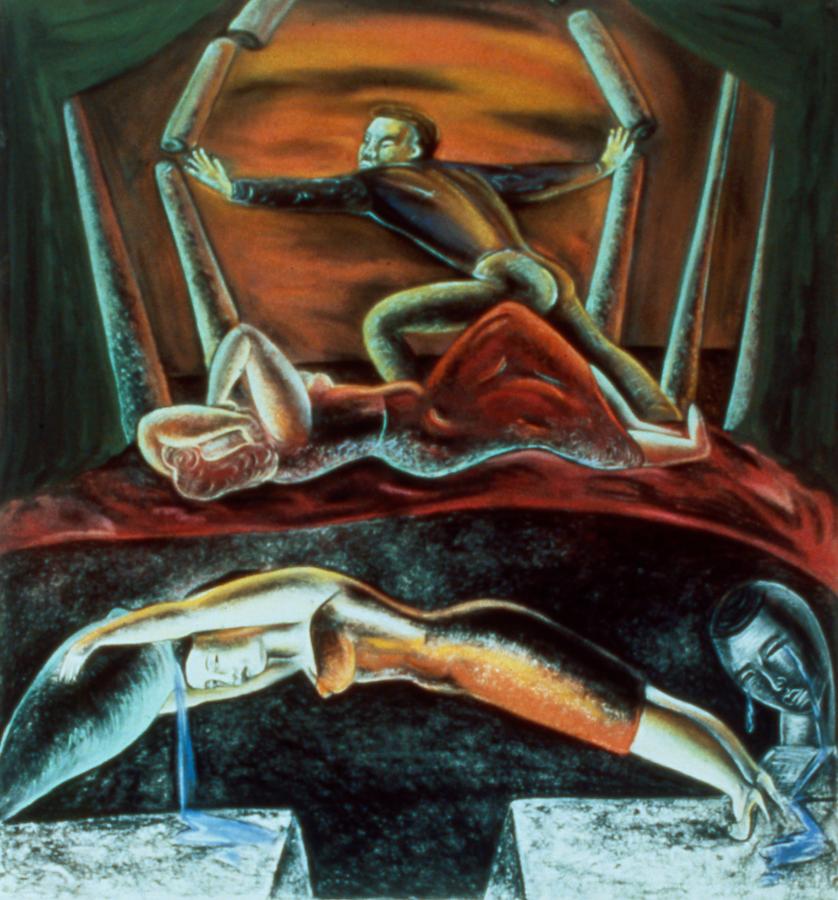 "Urgency of Desire, 50"" × 48"", pastel on paper, 1988"