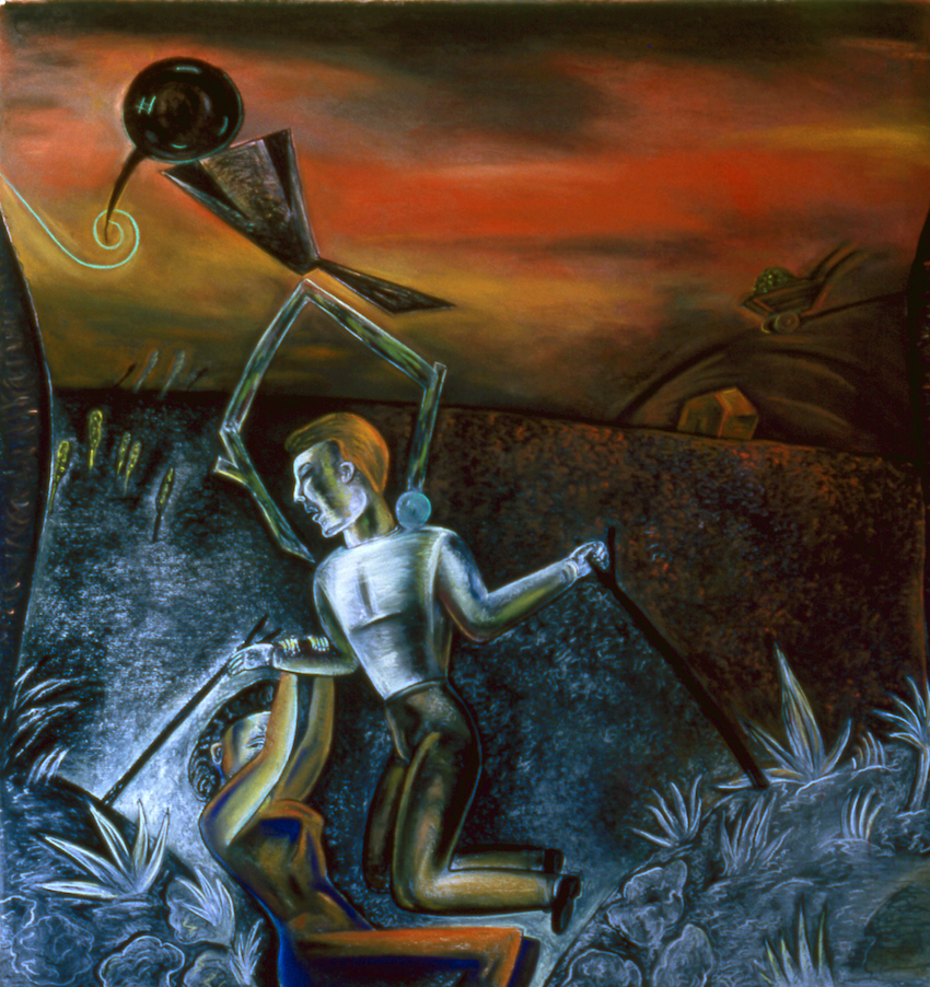 "Things that Hinder Strength and Speed, 50"" × 48"", pastel on paper, 1988"