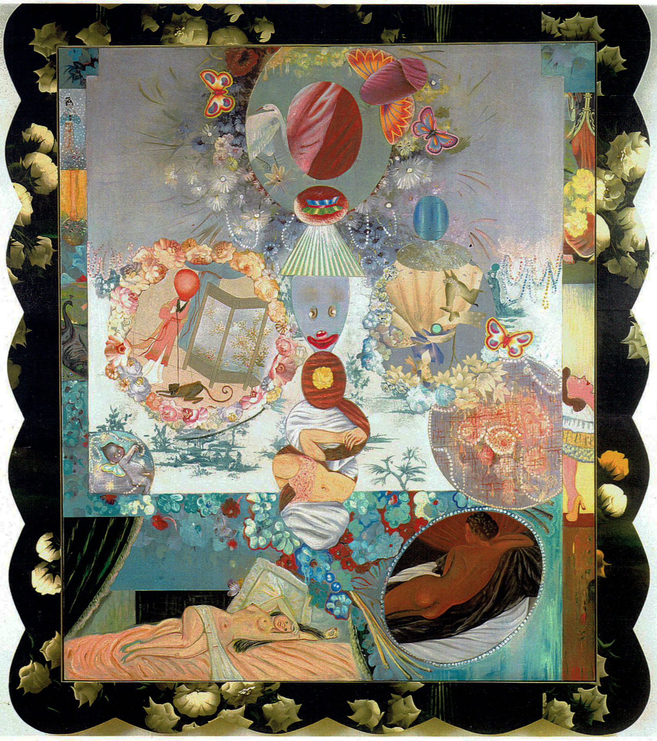 "A Submissive Moment, 84"" x 72"", mixed media and found objects, 1996"