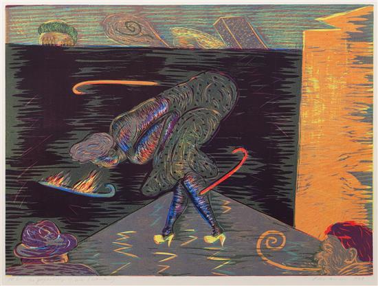 "'Psychology of Me (Woman)', 22"" x 29.5"", lithograph, 1980"