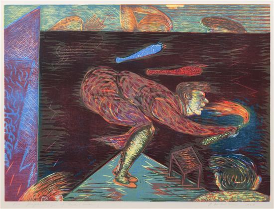 "Psychology of Me (man), 22"" x 29.5"", lithograph, 1980"
