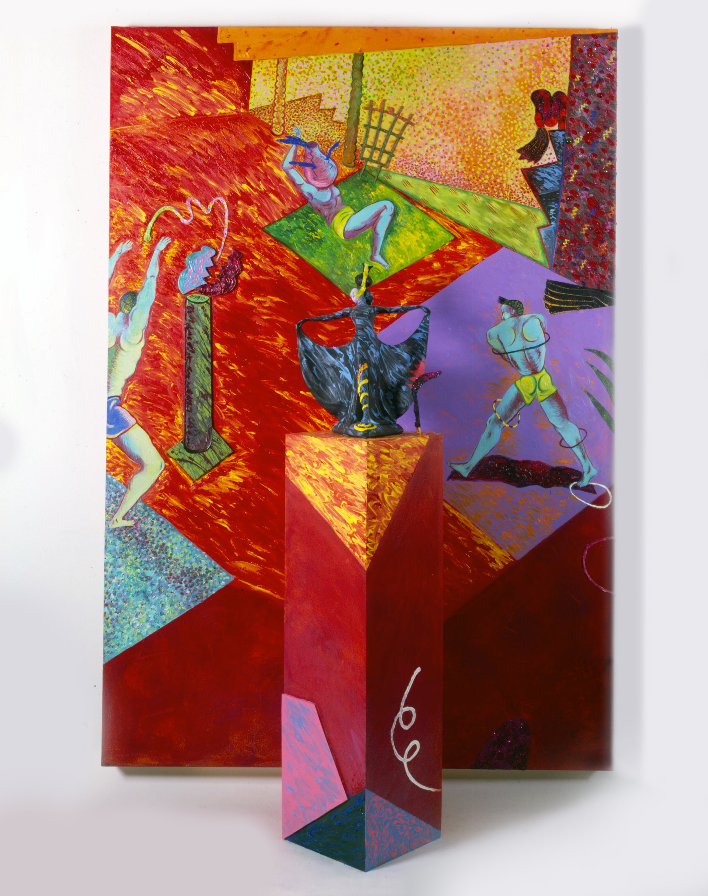 """The Dance (the third step), 72"""" × 48"""", mixed media, 1981"""