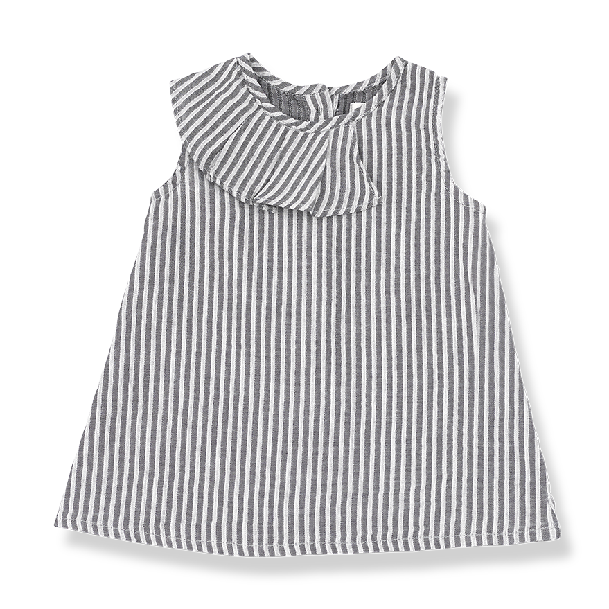 Sophie Striped Dress With Frill Collar