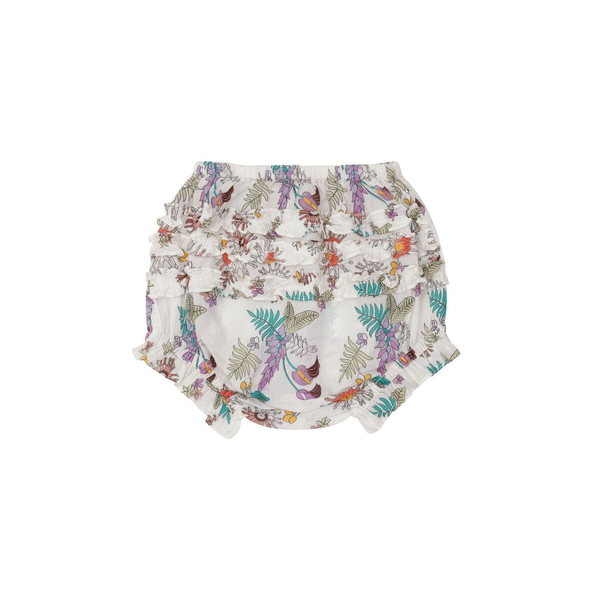 FLORAL BLOOMERS WITH TOP ABOVE