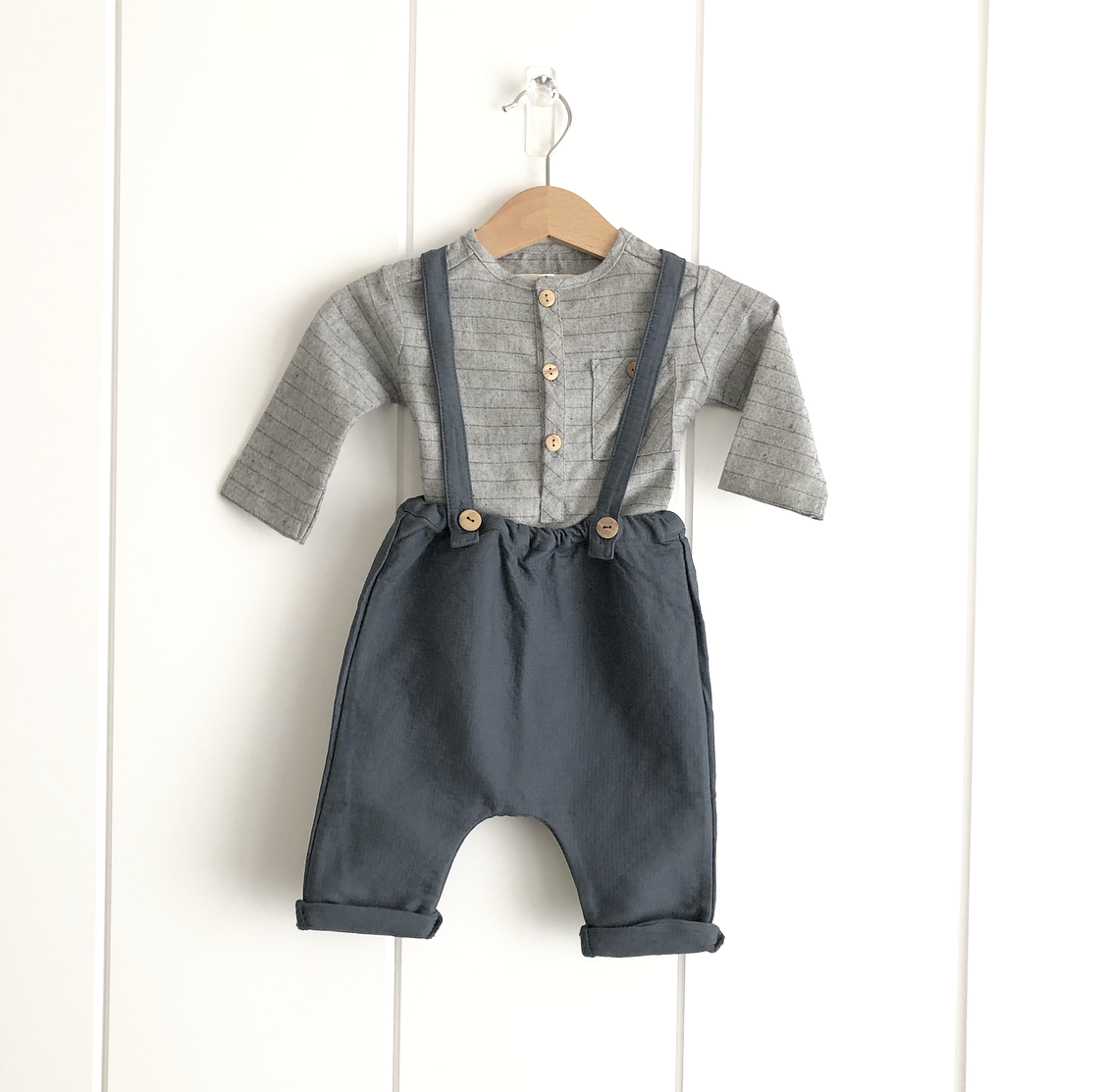 LENNY OVERALLS WITH SHIRT SET