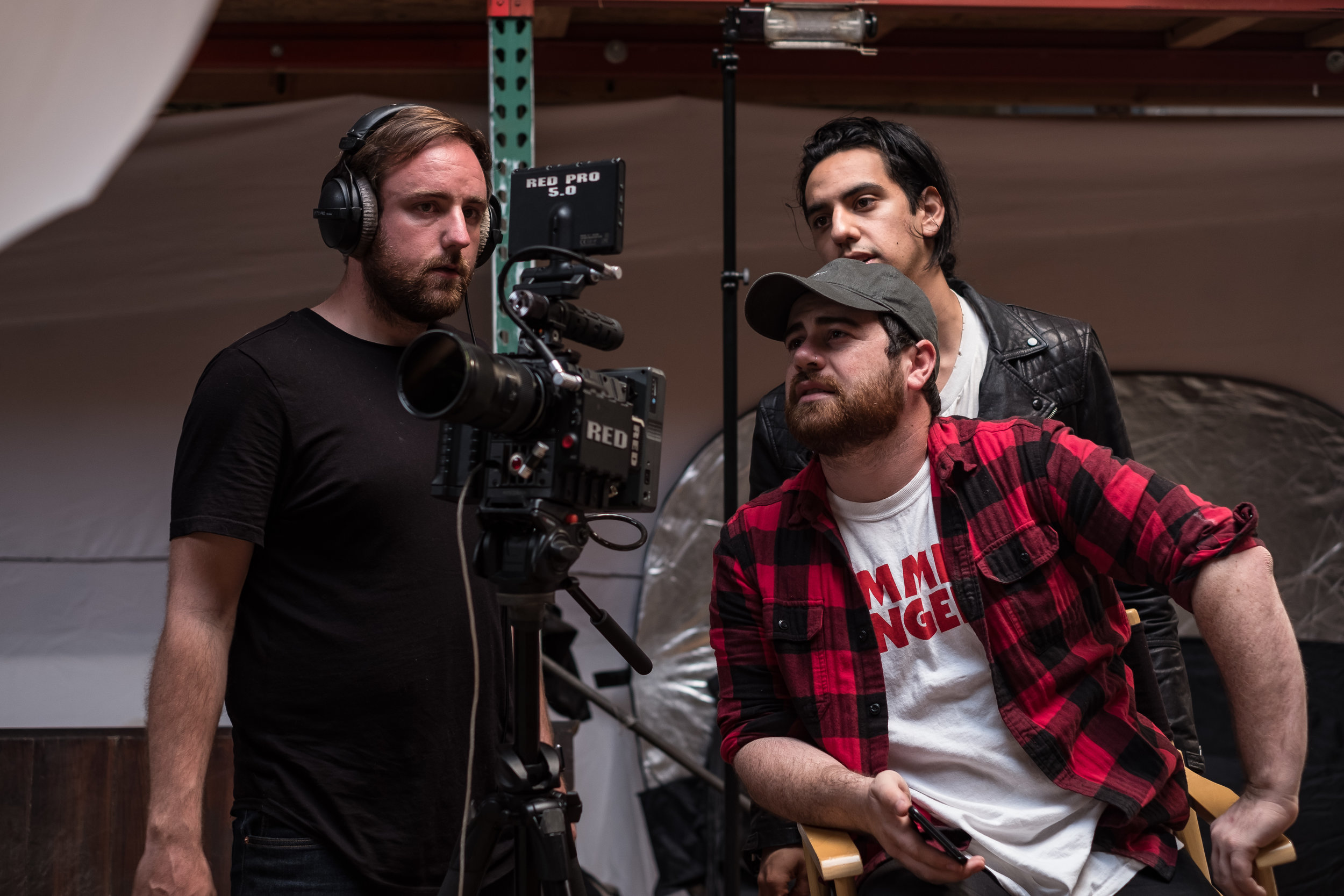 MEET THE FILMMAKERS  - LEFT TO RIGHT: EVAN SCHNEIDER (DP), MICAH HAMILTON (DIRECTOR), SPENCER RILEY (ARTIST/PRODUCER)