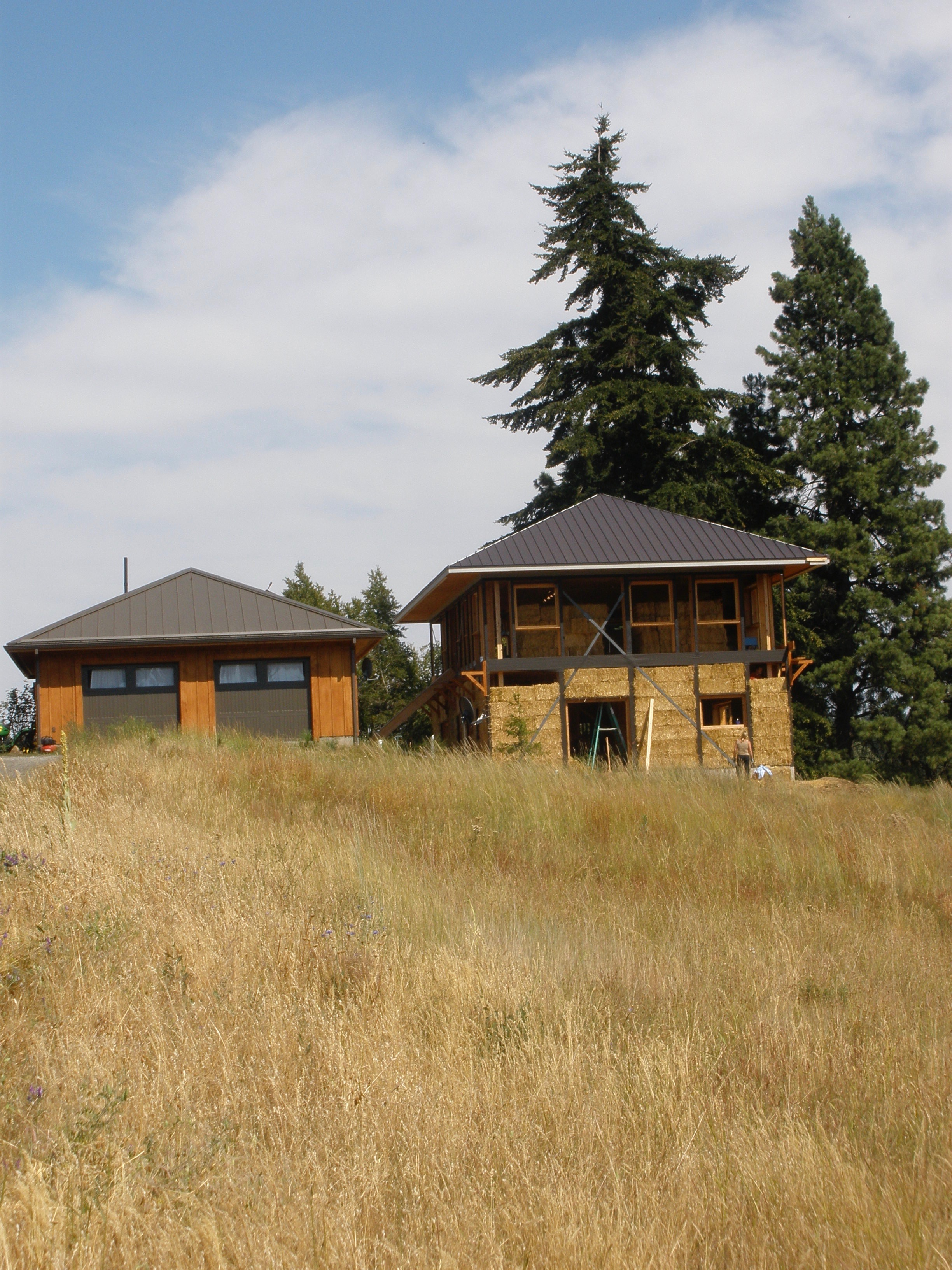 Strawbale home build, Washington state.