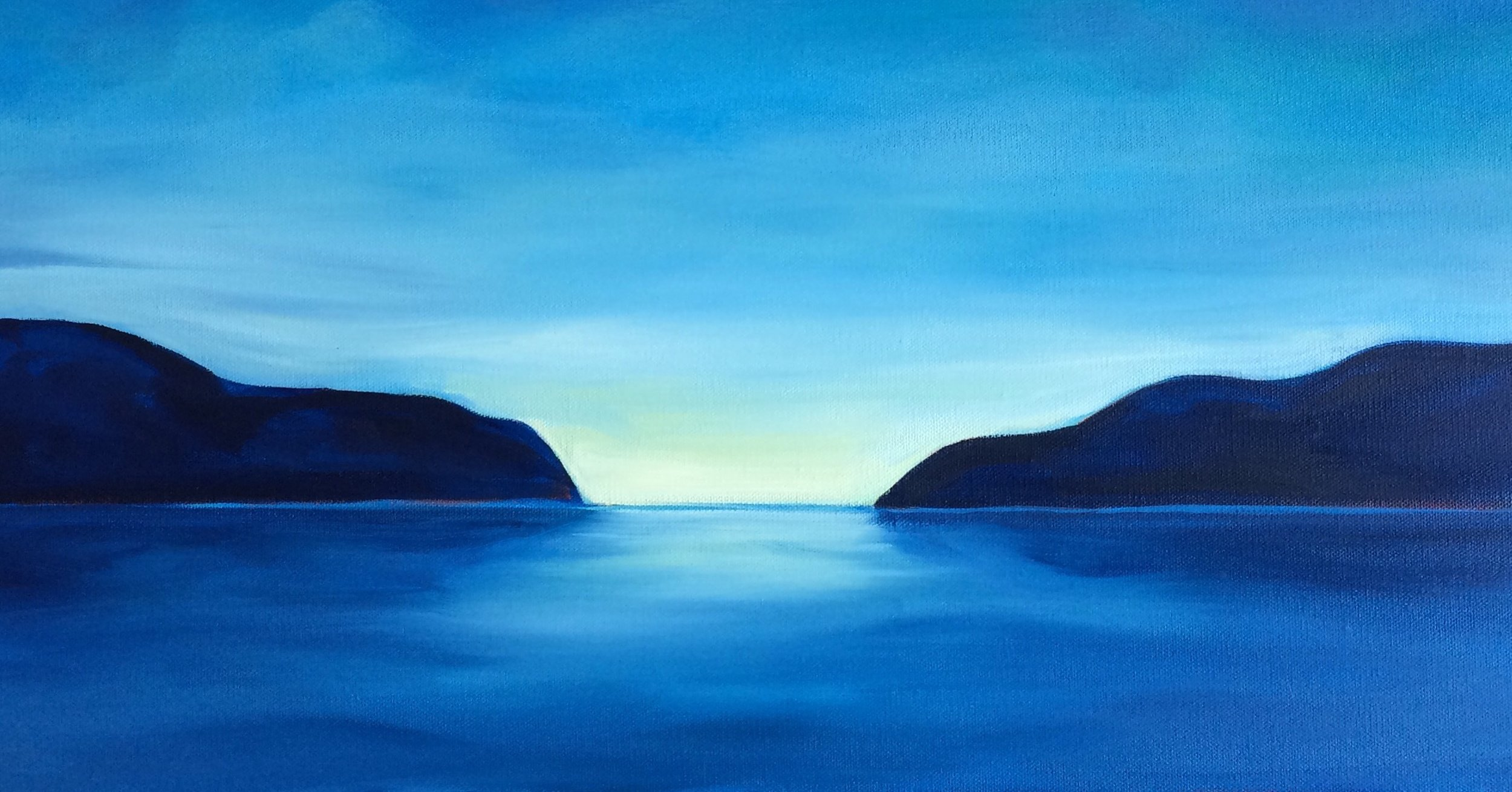 Calm Waters; oil on canvas SOLD Jill McDougall