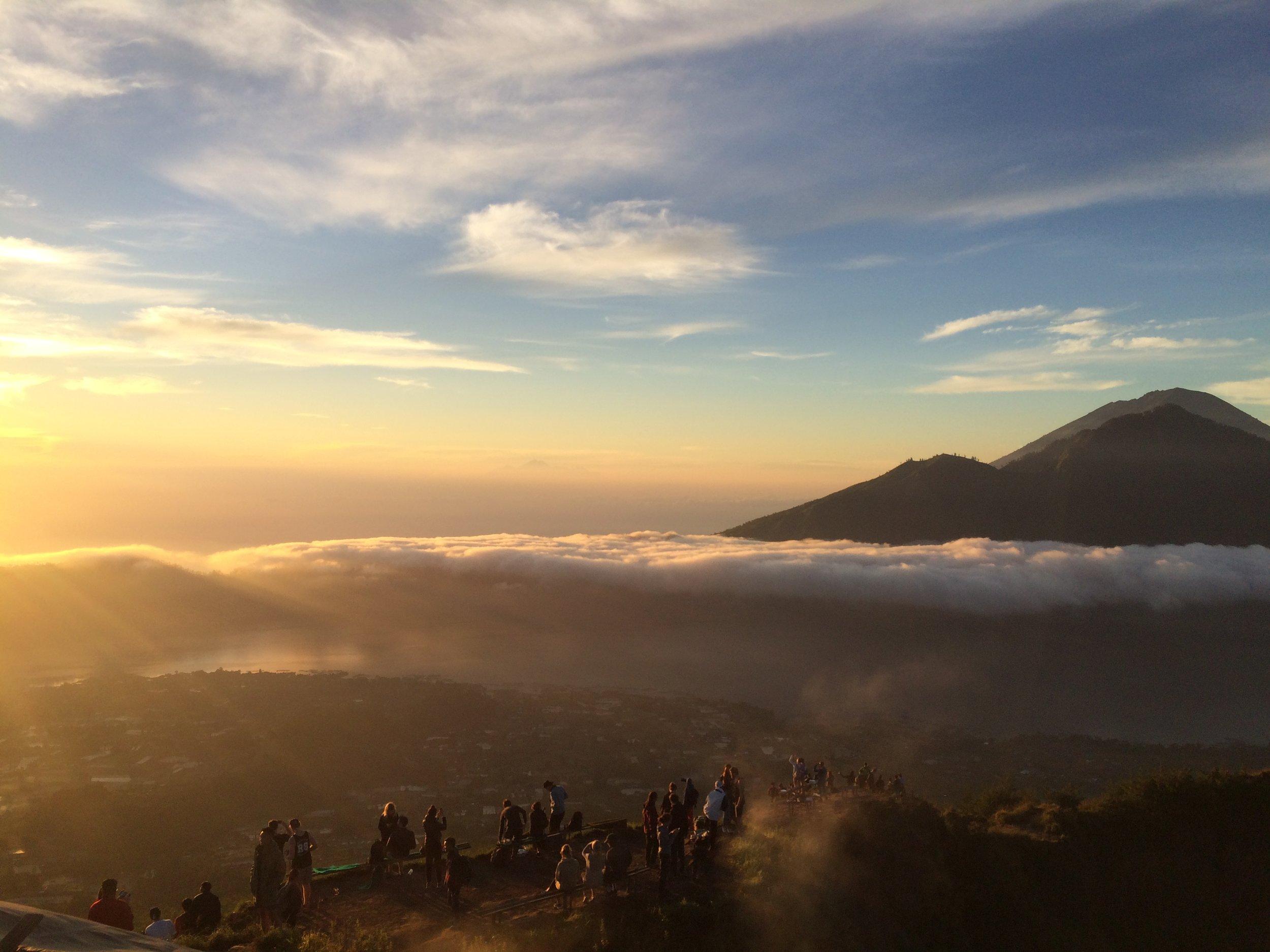 Sunrise on top of Mt. Batur.