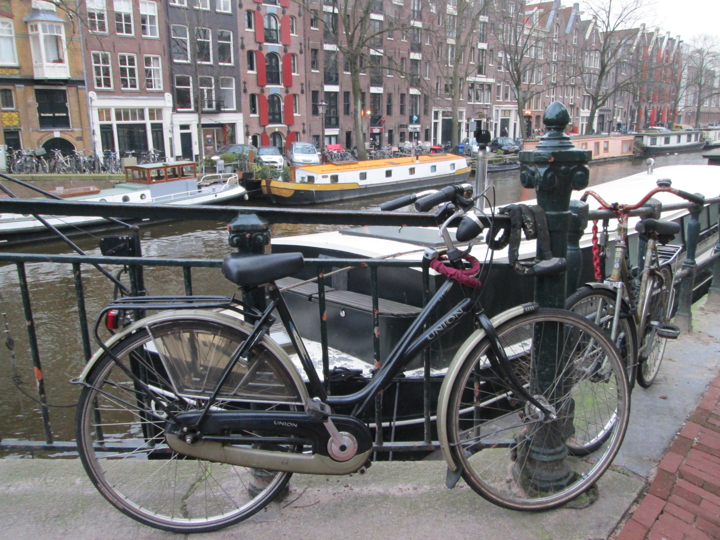 My beautiful (first) bike in Amsterdam.